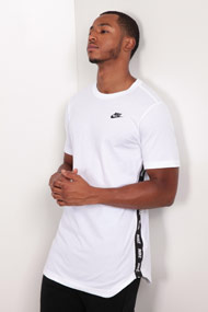 Nike - Long T-Shirt - White + Black