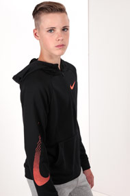 Nike - Sweatshirt - Black + Neon Orange