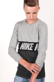 Nike - Langarmshirt - Heather Grey + Dark Grey