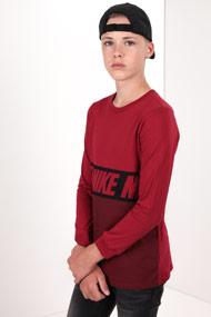 Nike - Langarmshirt - Red + Black