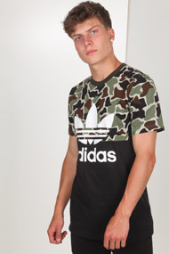 adidas Originals - T-Shirt - Camouflage + Black