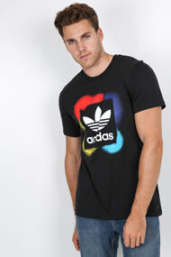 adidas Originals - T-Shirt - Black + White + Multicolor