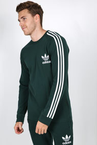 adidas Originals - Langarmshirt - Dark Green + White