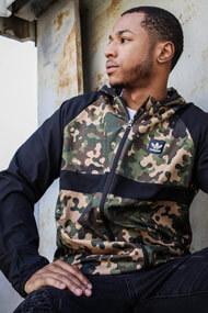 adidas Originals - Windjacke - Camouflage + Black