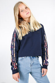 adidas Originals - Kapuzensweatshirt - Navy Blue + Multicolor