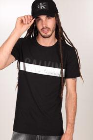 Calvin Klein - T-Shirt - Black + Silver