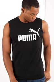 Puma - Débardeur ample - Black + White