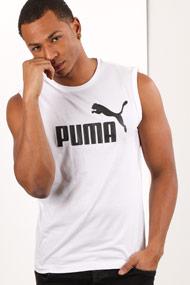 Puma - Débardeur ample - Offwhite + Black