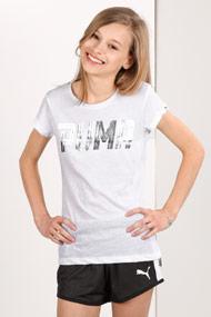 Puma - T-Shirt - White + Silver