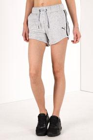 Puma - Short de jogging - Light Grey + Black