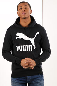 Puma - Kapuzensweatshirt - Black + White