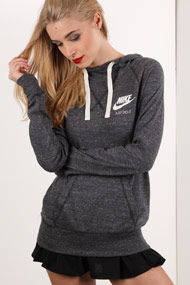 Nike - Sweatshirt à capuchon - Heather Dark Grey