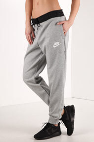 Nike - Pantalon de jogging - Heather Light Grey + Black