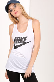 Nike - Tanktop - Offwhite + Black