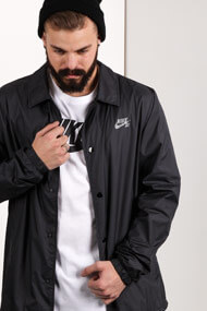 Nike - Windjacke - Black + Grey