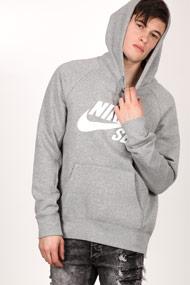 Nike SB - Kapuzensweatshirt - Heather Grey + White