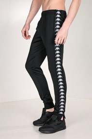 Kappa - Pantalon de jogging - Black + White