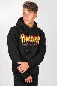 Thrasher - Kapuzensweatshirt - Black + Yellow