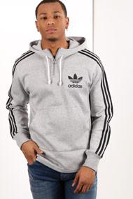 Adidas Originals - Sweatshirt à capuchon - Heather Grey + Black