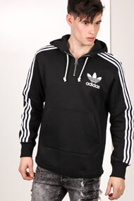 Adidas Originals - Kapuzensweatshirt - Black + White