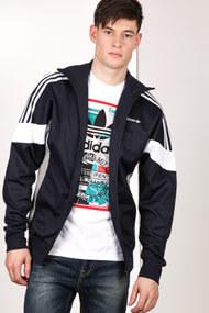 Adidas Originals - Veste de jogging - Dark Navy Blue + White + Grey