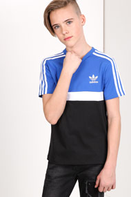Adidas Originals - T-Shirt - Royal Blue + Black + White