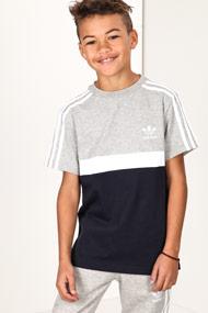 Adidas Originals - T-Shirt - Light Grey + Navy Blue + White