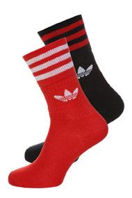 Adidas Originals - Lot de deux paires de chaussettes - Red + Black + White