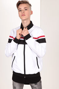 Urban Classics - Veste légère - White + Black + Red