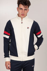 Fila - Trainingsjacke - Offwhite + Navy Blue + Red