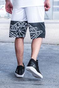 Jordan - Basketballshorts - White + Black