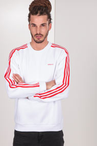 adidas Originals - Sweatshirt - White + Red