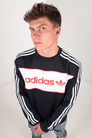 adidas Originals - Sweatshirt - Navy Blue + White + Red