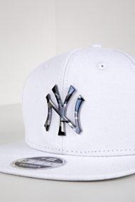 New Era - 9Fifty Cap / Snapback - White + Grey