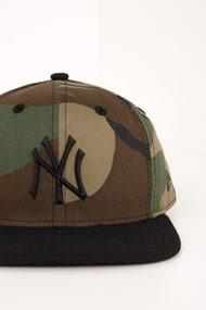 New Era - 9Fifty Cap / Snapback - Camouflage + Black