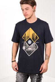 Element - T-Shirt - Dark Navy Blue + Yellow