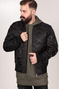 Urban Classics - Bomberjacke - Camouflage Black