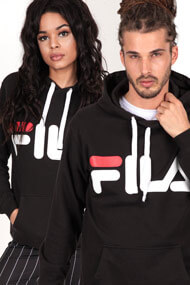 Fila - Kapuzensweatshirt - Black + White + Red