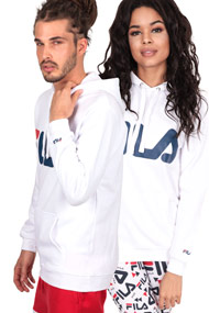 Fila - Kapuzensweatshirt - White + Blue + Red
