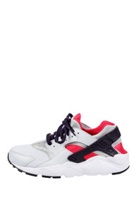 Nike - Air Huarache chaussures de course - Light Grey + Red + Black