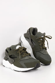 Nike - Air Huarache chaussures de course - Olive Green + White