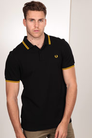 Fred Perry - Poloshirt - Black + Yellow