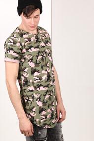 BlackSalt - Long T-Shirt - Camouflage + Rose