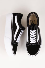 Vans - Old Skool Plateau Sneaker low - Black + White