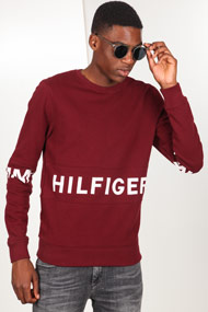 Tommy Hilfiger - Sweatshirt - Bordeaux + White