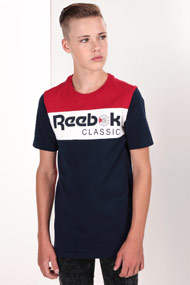 Reebok - T-Shirt - Navy Blue + Red + Offwhite