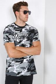 New Era - T-Shirt - Camouflage + Grey