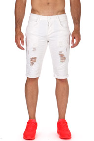 Justing - Jeansshorts - White