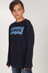 Levi's - Langarmshirt - Navy Blue + Light Blue