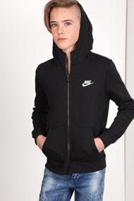 Nike - Trainingsjacke mit Kapuze - Black + White